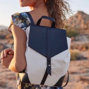 Deux Lux canvas leather lightweight demi backpack